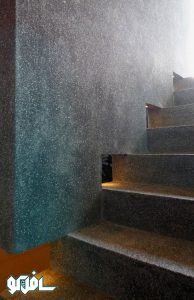 12 194x300 نورپردازی دیواری پله