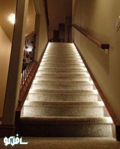 14 241x300 نورپردازی دیواری پله