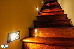 4 1 300x200 نورپردازی دیواری پله