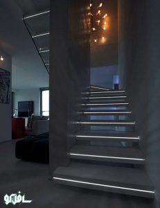 16 231x300 نورپردازی آبچکان پله
