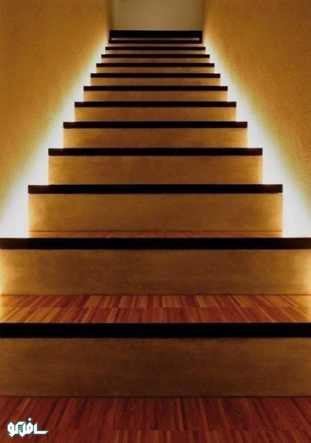 نورپردازی پشت یا کناره ی پله