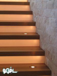 2 3 225x300 نورپردازی بر روی کف پله (نورپردازی دفنی)