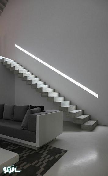 10 نورپردازی نرده پله