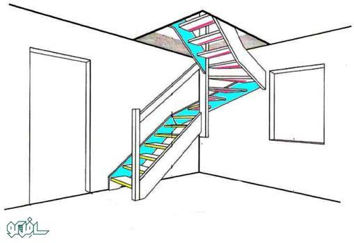 16 نورپردازی ترکیبی پله