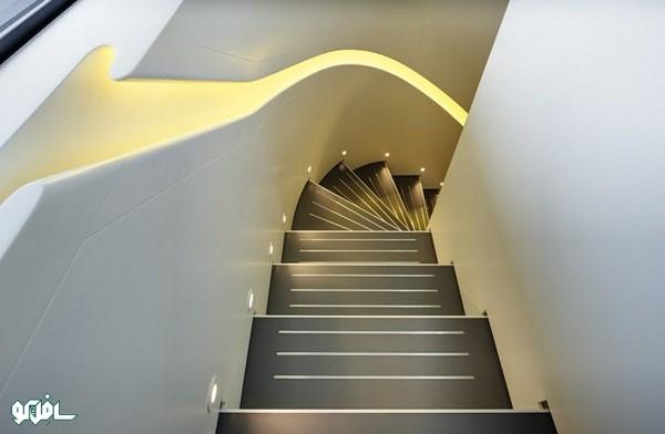 6 1 نورپردازی ترکیبی پله