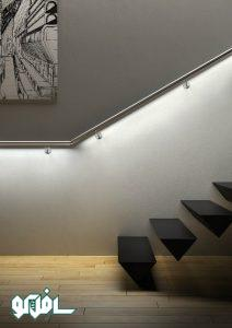 6 212x300 نورپردازی نرده پله