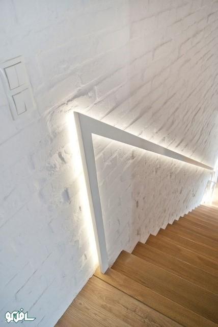 7 نورپردازی نرده پله