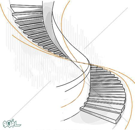 sketch-of-a-spiral-staircase_gg60076753