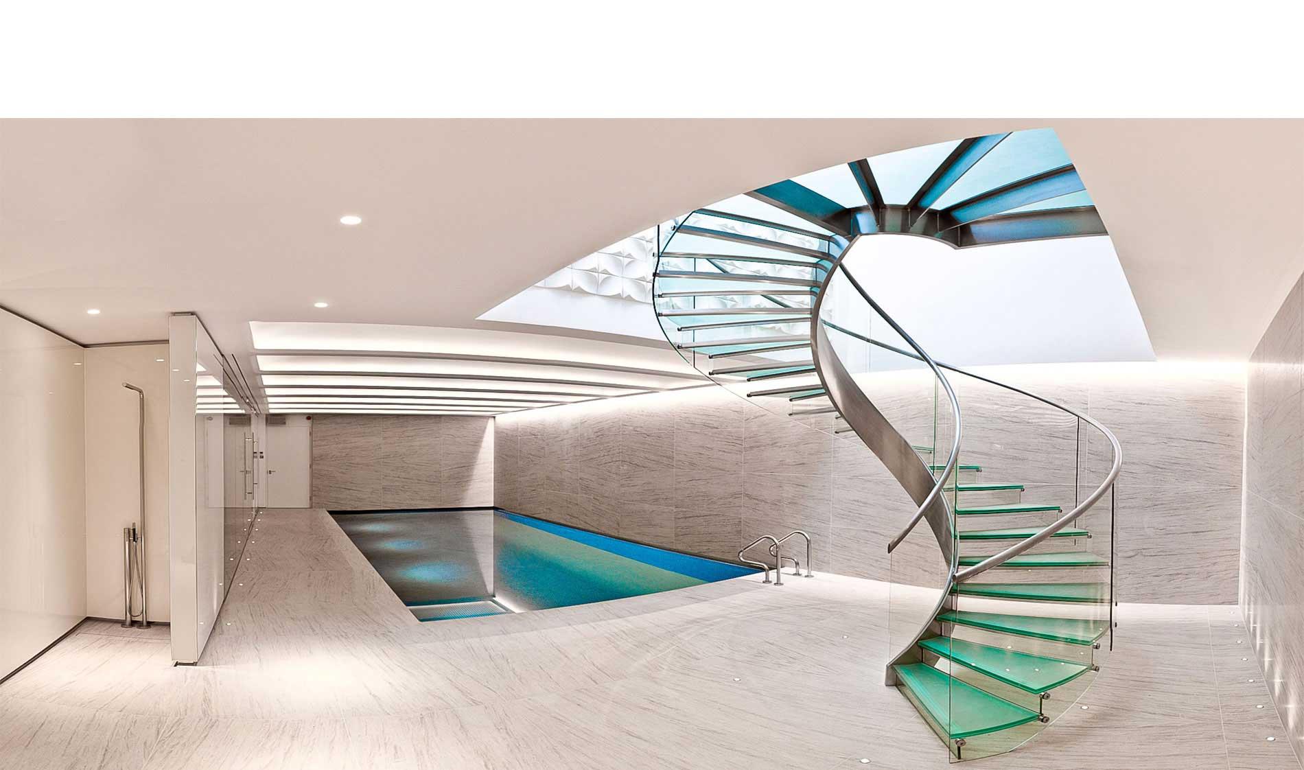 پله گرد سافلکو - پله دوبلکس ، پله گرد ، پله پیچ و انواع پله های فلزی