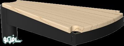 افرا پله گرد چوبی