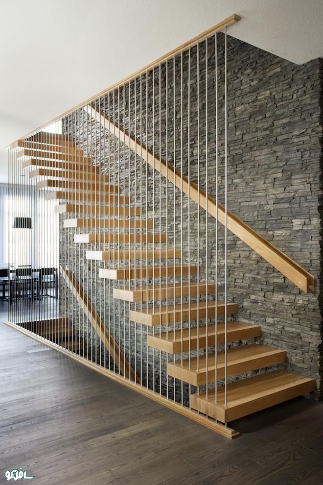 بلوط سفید3 پله گرد چوبی