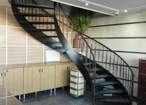 پله گرد دو محور ورق